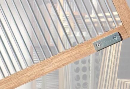Spijlenzeef hout detail